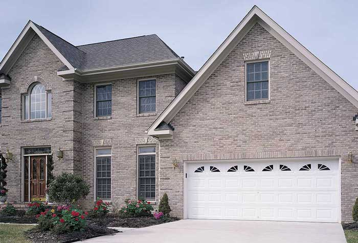 Brick house with new garage