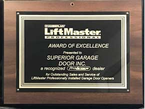 LiftMaster Award of Excellence